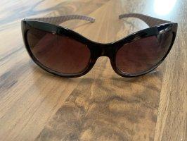 Calvin Klein Lunettes de soleil ovales brun foncé-brun