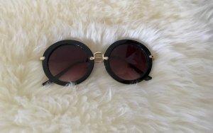 H&M Gafas negro-color oro