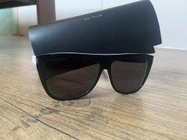 Yves Saint Laurent Occhiale da sole spigoloso nero-bianco