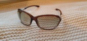 Tom Ford Owalne okulary przeciwsłoneczne złoto-brązowy