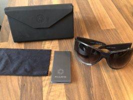 Pilgrim Oval Sunglasses dark brown
