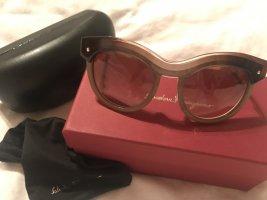 Salvatore ferragamo Gafas de sol cuadradas marrón grisáceo vidrio