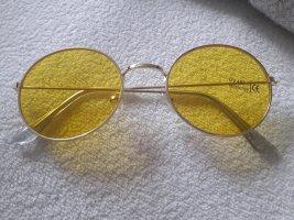 Gafas de sol redondas multicolor tejido mezclado