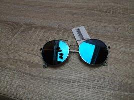 H&M Gafas de sol redondas azul neón
