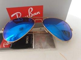 Ray Ban Lunettes doré-bleu acier