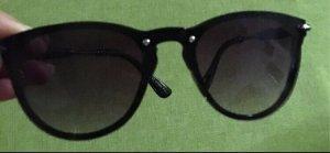 Ovale zonnebril zwart