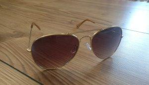 Accessorize Gafas de sol ovaladas color bronce-color oro