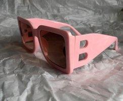 Angular Shaped Sunglasses light pink acetate