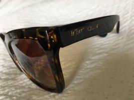 Betsey Johnson Angular Shaped Sunglasses black brown-dark brown
