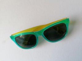 Sonnenbrille, blau, gelb, Rayban, Wayfarer