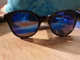Oval Sunglasses black-blue mixture fibre