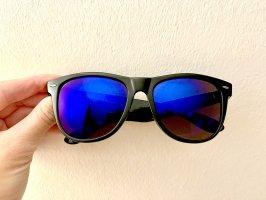 Gina Tricot Lunettes de soleil ovales bleu-noir