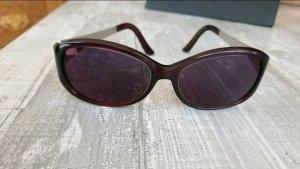 Artdeco Lunettes de soleil ovales noir-bordeau