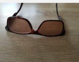 Occhiale da sole spigoloso bronzo