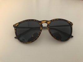 Sonnenbrille braun schwarz gemustert