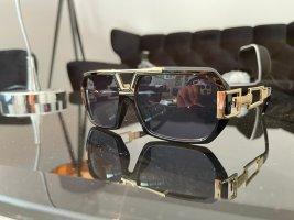 Cazal Angular Shaped Sunglasses black-gold-colored