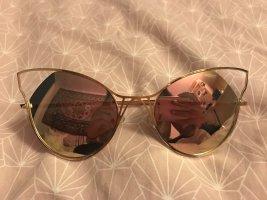 Sonnenbrille bunte Gläser Holo Katzenauge