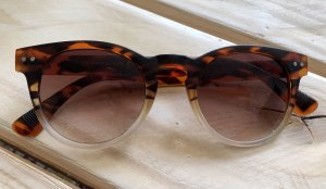 Lunettes de soleil ovales brun foncé-brun