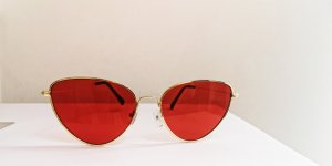 Sonnenbrille Cateye rot gold