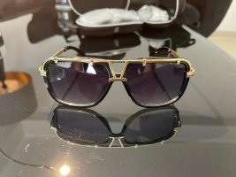 Cazal Oval Sunglasses black-gold-colored