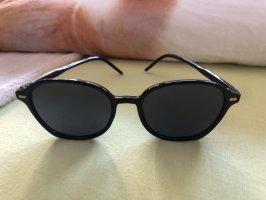 Owalne okulary przeciwsłoneczne czarny
