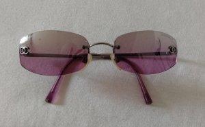 Chanel Angular Shaped Sunglasses pink-mauve