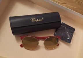 Chopard Aviator Glasses dark red-gold-colored