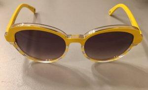 Dior Oval Sunglasses light grey-neon yellow