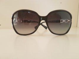 Coach Okrągłe okulary przeciwsłoneczne czarny-złoto