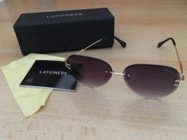 Pilotenbril goud-bruin-paars