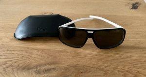 Dior Gafas de sol redondas negro-blanco