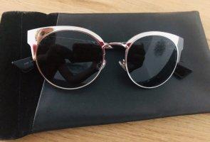 Dior Retro Glasses black-silver-colored