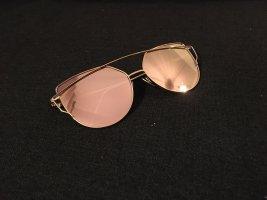 Occhiale da pilota color oro rosa