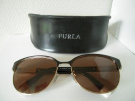 Furla Retro Glasses black-gold-colored metal