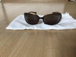 Prada Occhiale da sole ovale marrone chiaro