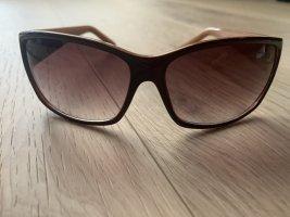 Fossil Occhiale da sole spigoloso marrone scuro-marrone chiaro