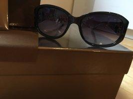 Gucci Occhiale da sole spigoloso marrone-grigio