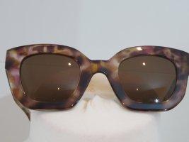 Sonnenbrille hornoptik Zara braun meliert eckig