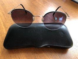 Jimmy Fairly Occhiale da sole ovale nero-oro