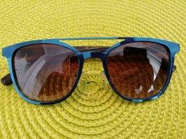 Joe 's Kwadratowe okulary przeciwsłoneczne ciemnobrązowy-niebieski neonowy