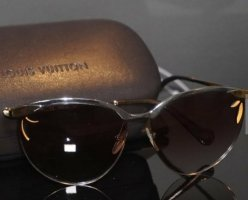 Louis Vuitton Butterfly Glasses gold-colored-grey brown