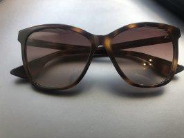 Alexander McQueen Hoekige zonnebril bruin