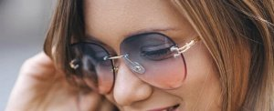Glasses light pink-azure