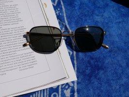 Meller Okulary retro czarny-złoto