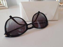 Michael Kors Owalne okulary przeciwsłoneczne czarny