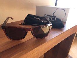 D.Franklin Angular Shaped Sunglasses black brown-brown