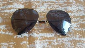 Okulary pilotki złoto-brązowy