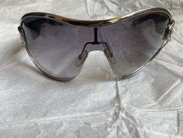 Gucci Owalne okulary przeciwsłoneczne czarny
