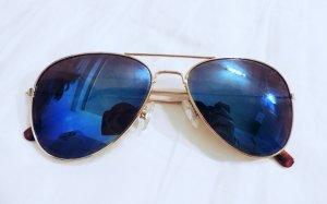 Sonnenbrille Pilotenbrille dunkelblau