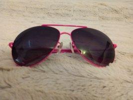Tally Weijl Round Sunglasses black-neon pink